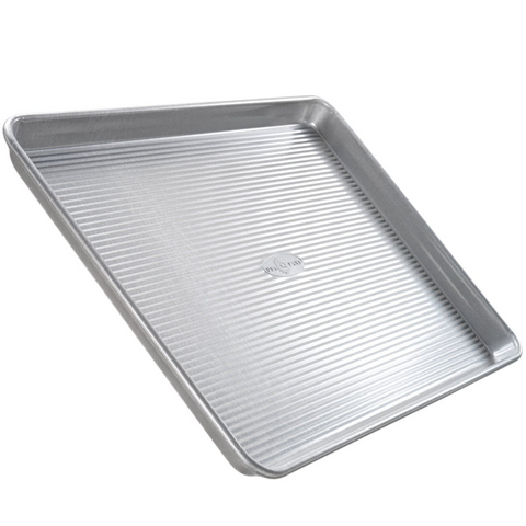 USA Pan Bakeware Aluminized Steel Quarter Sheet Pan 13 x 9 x 1 inches Made In The USA