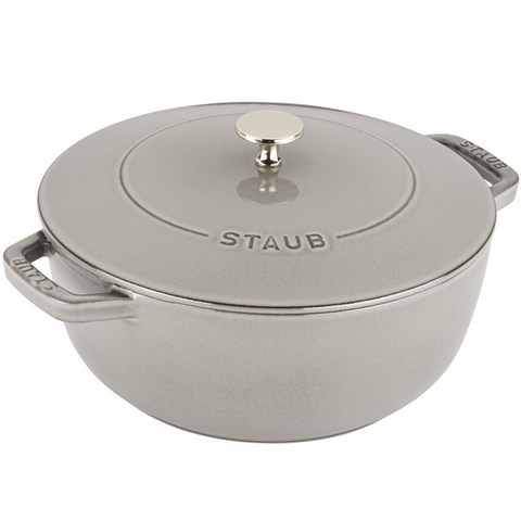 STAUB CAST IRON 3.75-QUART ESSENTIAL FRENCH OVEN - GRAPHITE GREY
