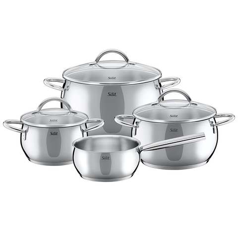 WMF 7 Piece Nobile Cookware Set, Silver