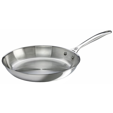 LE CREUSET 12'' STAINLESS STEEL FRY PAN