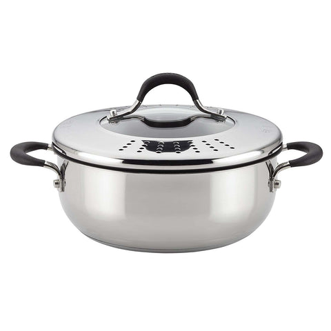 CIRCULON 4-QUART COVERED CASSEROLE WITH LOCKING LID
