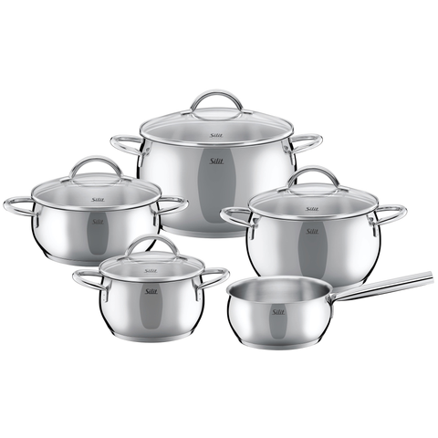 WMF Silit Nobile 7-Piece 18/10 Stainless Steel Cookware Set, Silver