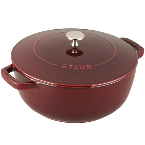 STAUB CAST IRON 3.75-QUART ESSENTIAL FRENCH OVEN - GRENADINE