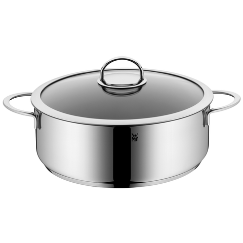 WMF Vignola High Casserole with Lid, 6.6-Quart, Silver