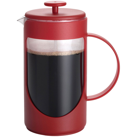 BONJOUR 8-CUP FRENCH PRESS - RED