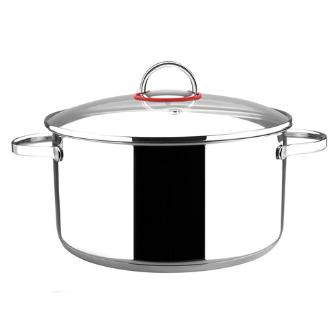 Magefesa Nova Stainless Steel Stockpot with Glass Lid