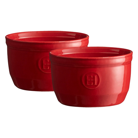 Emile Henry 8.5 oz Ramekin (Set of 2), Burgundy Red