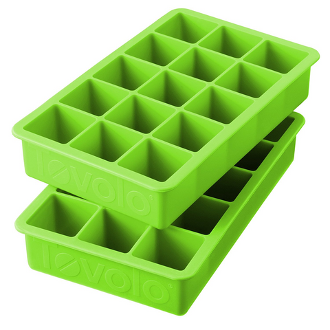 Tovolo Perfect Cube Ice Trays, Spring Green - Set of 2