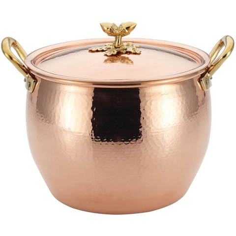 Ruffoni Historia Decor 12-1/4-Quart Covered Stockpot, Copper