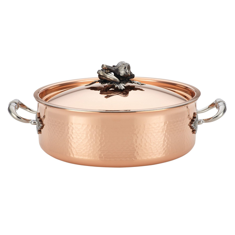 Ruffoni Opus Cupra 5-1/4-Quart Covered Braiser, Copper