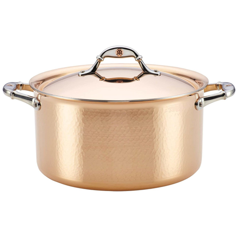 Ruffoni Symphonia Cupra 8-Quart Covered Stockpot - Copper