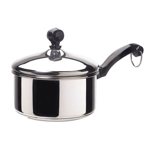 Farberware Classic Series Stainless Steel 1-Quart Covered Saucepan