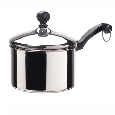 Farberware Classic Series Stainless Steel 3-Quart Covered Saucepan
