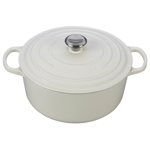 LE CREUSET 7.25-QUART ROUND DUTCH OVEN - WHITE