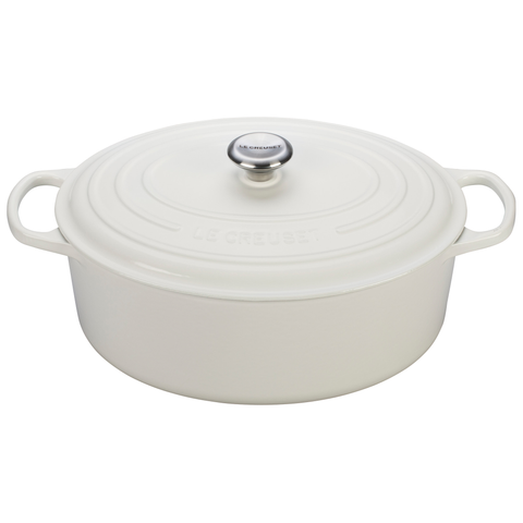 LE CREUSET 9.5-QUART OVAL DUTCH OVEN - WHITE