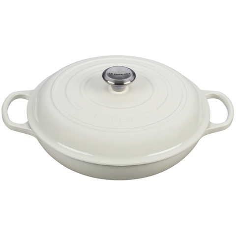 LE CREUSET 3 3⁄4-QUART BRAISER - WHITE