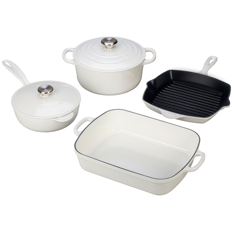 LE CREUSET 6-PIECE SIGNATURE SET - WHITE