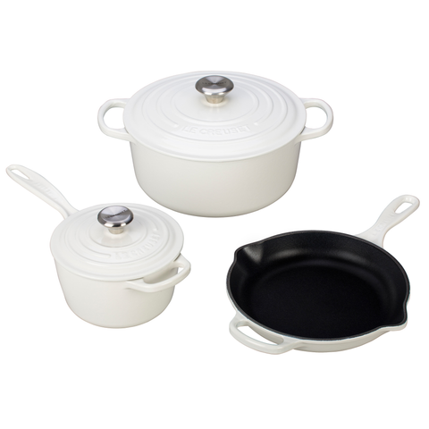 LE CREUSET 5-PIECE SIGNATURE SET - WHITE