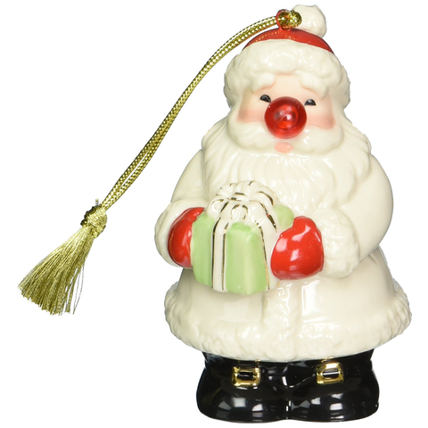 LENOX BLINKING ALL THE WAY SANTA ORNAMENT