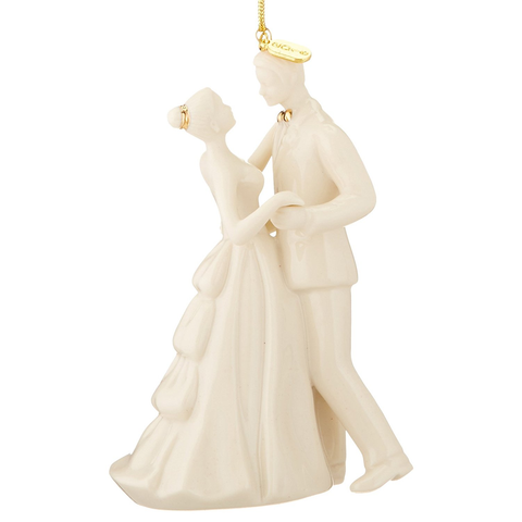 LENOX 2016 ''ALWAYS AND FOREVER'' BRIDE AND GROOM ORNAMENT