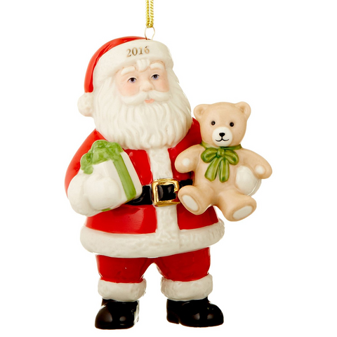 Lenox 2016 Good Tidings Santa Ornament