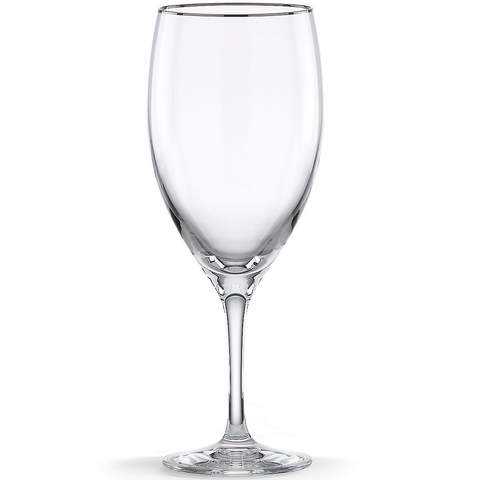 Lenox Timeless Platinum Signature Crystal All Purpose Beverage Glass