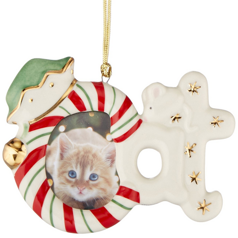 LENOX CAT FRAME ORNAMENT