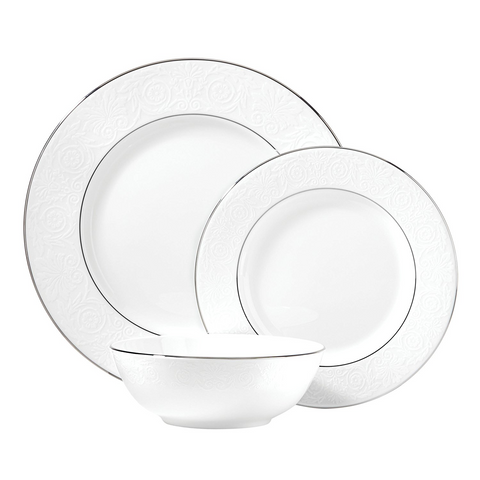 Lenox Artemis 3-Piece Place Setting, White