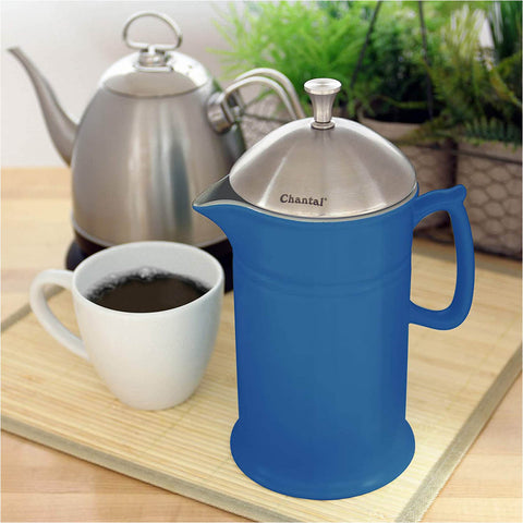 Chantal Ceramic French Press with Stainless Steel Plunger & Lid