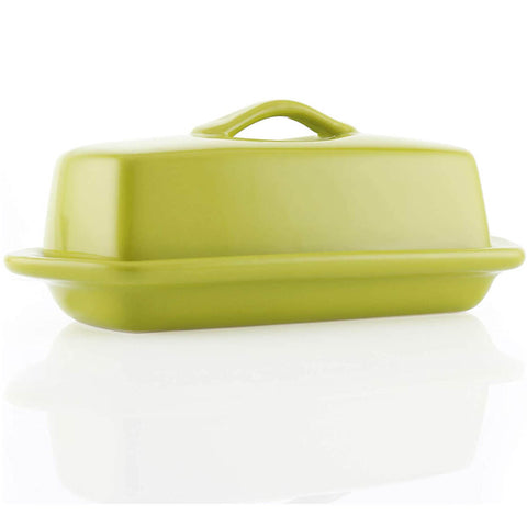 Chantal Full-size 8.5'' Butter Dish - Olive Green
