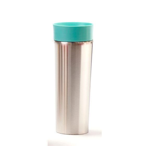 Teal Stainless Steel Travel Mug with Infuser - forteassake
