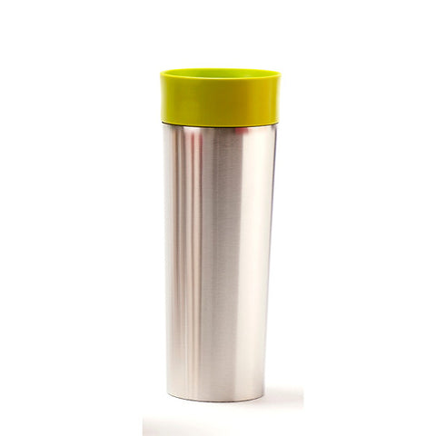 Green Stainless Steel Travel Mug with Infuser - forteassake