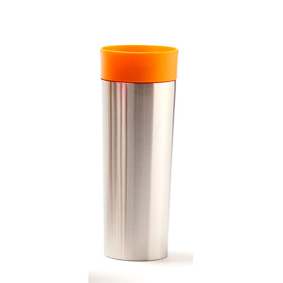 Orange Stainless Steel Travel Mug with Infuser - forteassake