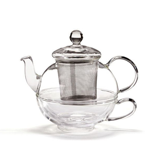 Glass Tea-for-One Infuser Teapot - forteassake