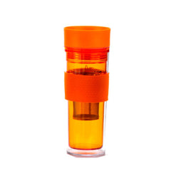 Orange Travel Mug With Infuser - forteassake  - 1