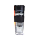 Black Travel Mug With Infuser - forteassake  - 1