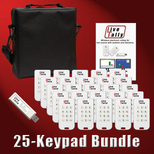Live-Tally Voting System with 25 Keypads