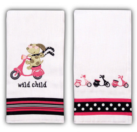 Up~Chuckies Burp Cloths ~ GIRL