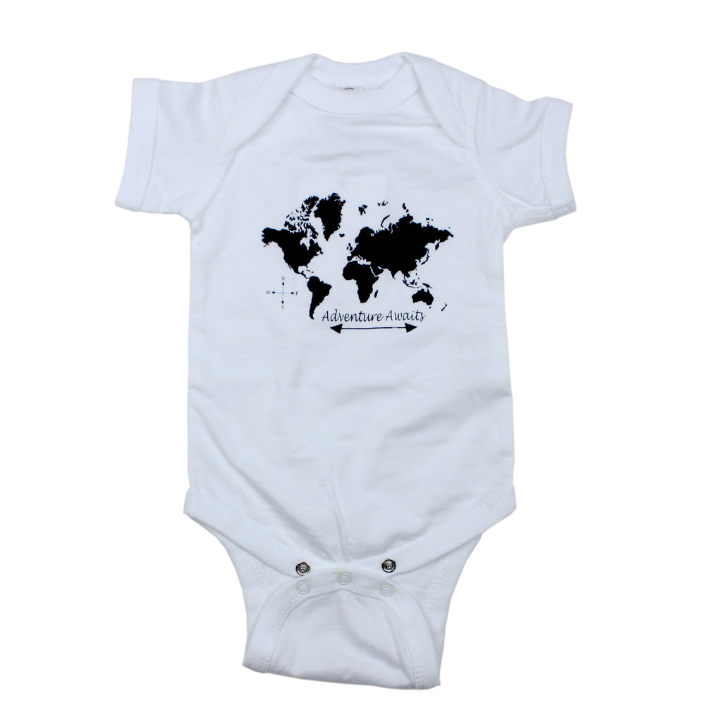 Adventure Awaits Bodysuit and Tee - Cuddle Monster Cute Baby Clothes