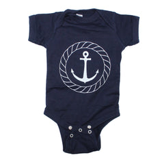 Nautical Anchor Bodysuit and Tee - O Baby! Brands  - 1