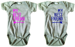 My Best Friend Bodysuit and Tee Set - O Baby! Brands  - 3