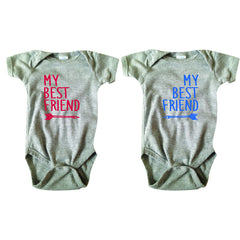 My Best Friend Bodysuit and Tee Set - O Baby! Brands  - 1
