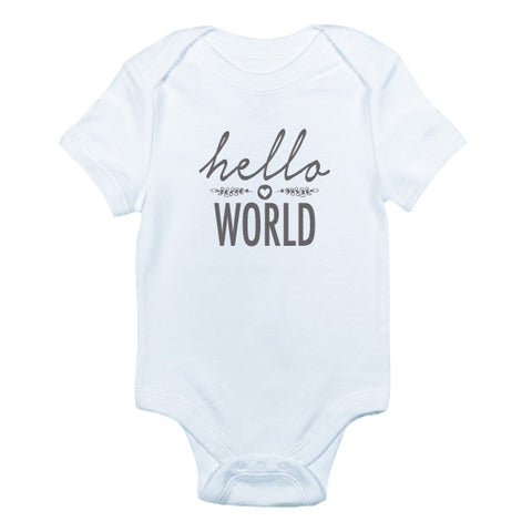 Hello World Bodysuit and Tee