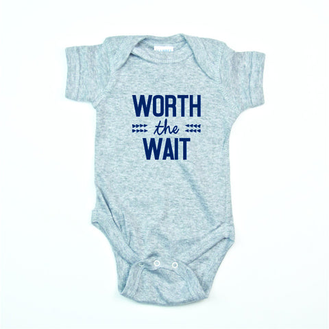 Worth the Wait Bodysuit and Tee