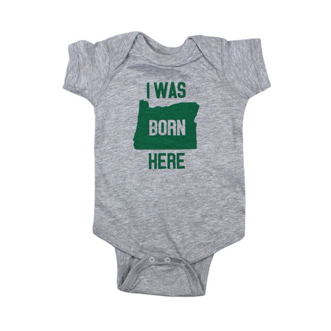 Born Here Oregon Bodysuit and Tee