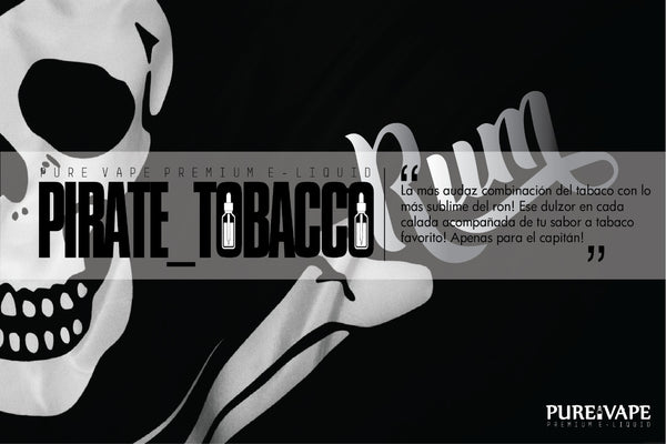 Nic Salt By Pure Vape Pirate Tobacco 15 ml