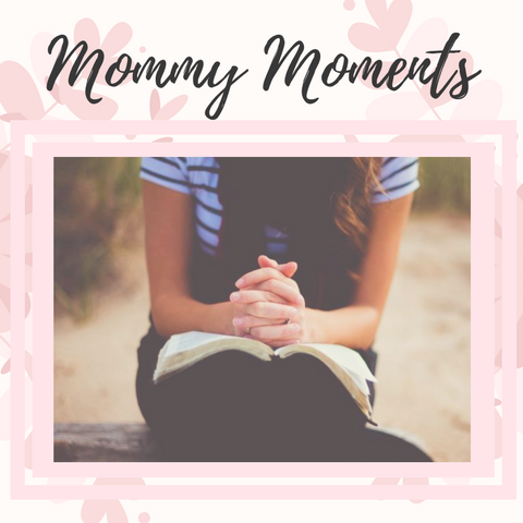 Christian mother enjoying her quiet time