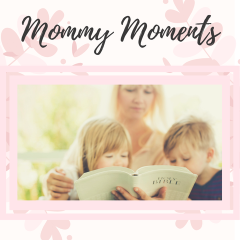 mom reading bible with kids