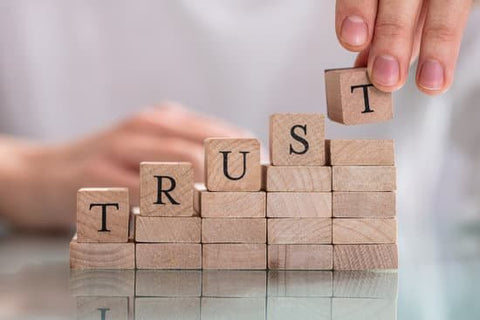 "blocks with word ""TRUST"""