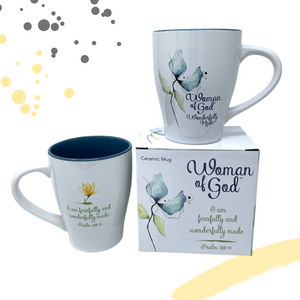 "Christian-themed Mug - ""I Am Fearfully and Wonderfully Made"""